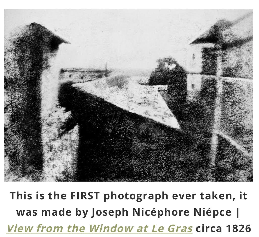 History In Pics – The First Photograph Ever Taken | 103FM ...